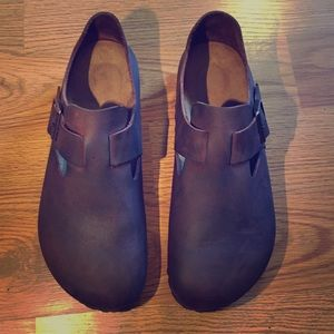 Birkenstock London Brown Oil Leather Shoes